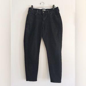 Levi's Denizen curvy skinny black ankle jeans